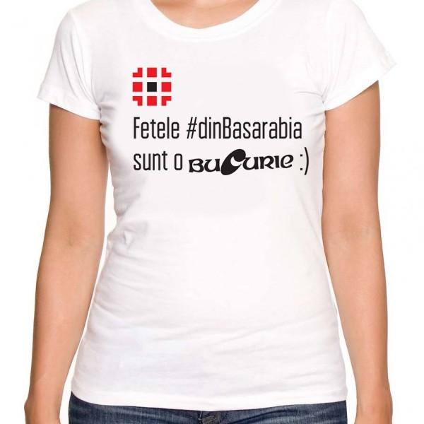 Tricou Fetele sunt o bucurie alb