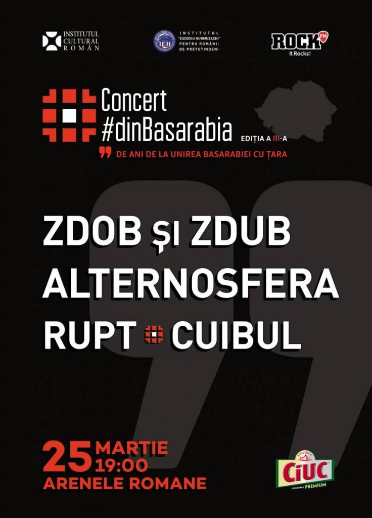 Afis concert dinBasarabia - Alternosfera, Zdob si Zdub, Cuibul, Rupt